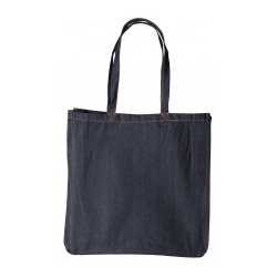 Canvas shopper denim