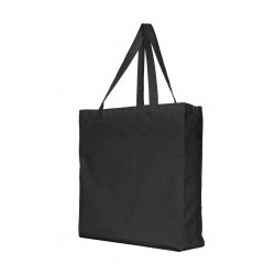 Canvas shopper zwart
